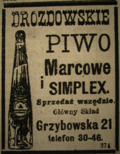 piwo w literaturze reklama piwa drozdowskiego